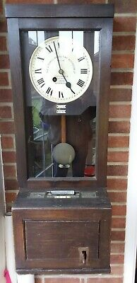 Gledhill Brook Clocking In Machine Oak Cased Time Recorder