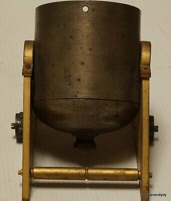 19c Gilded Brass Clock Case Modelled as a Mortar Cannon