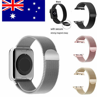 For Apple Watch Series 5 4 3 2 1 Stainless Steel Milanese Strap Band 44 42 40 38