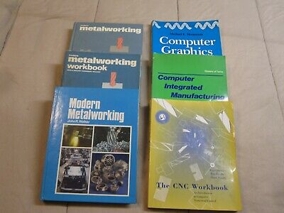 Lot of 6 Books Modern Metalworking, Computer Graphics Handbook and More