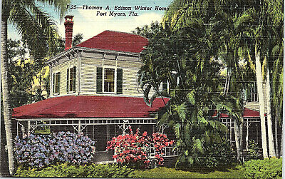 Fort Myers, Florida, Thomas A. Edison, Winter Home - Postcard (UU)