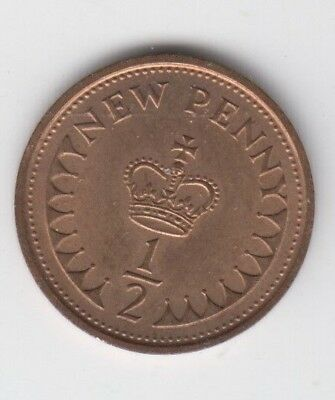 Old Half New Penny Coin 1976 as shown