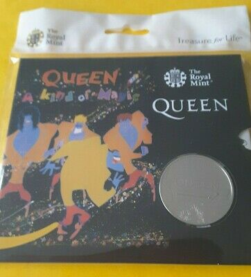 2020 Royal Mint Music Band Queen BU Five Pound £5 Coin-A KIND OF MAGIC