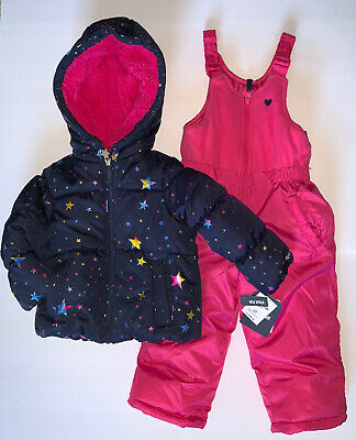 2 Oshkosh Girl Toddler Pink Heart /& Grey Star Fleece Jacket 3T