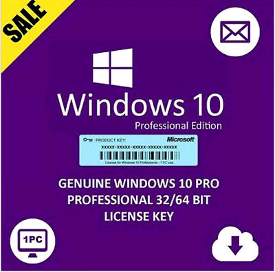 Windows 10 Professional Activate Product Key Code Win 10 Pro 32/64 Bits INSTANT