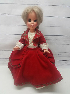 "Vintage FURGA Italy Gorgeous Gabriella Baby Doll 16"" Italian Collectible Blonde"
