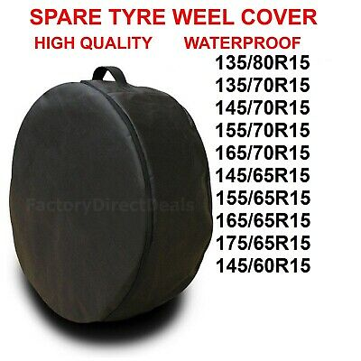 """R15""""  Spare Tyre Cover Wheel Protective Tyre Bag Space Saver For Any Car D40"""