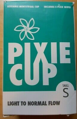 Pixie Cup For Light To Normal Flow Size Small w/ 5 Pixie Wipes