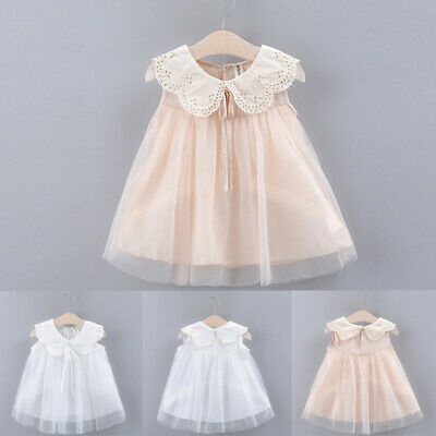 Toddler Kid Baby Girl Sleeveless Bow Lace Tulle Party Princess Dress Clothing UK