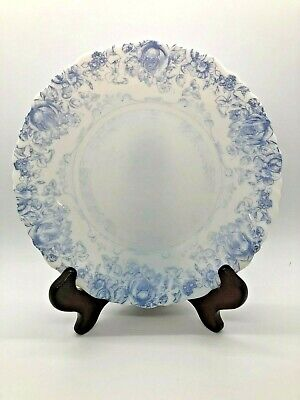 Set of 12 Arcopal Honorine Dessert Salad Plates & Soup Bowls Blue Floral France