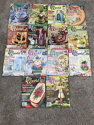 Lot of 14 TOLE WORLD Painting Magazines 4/00-10/03 Decorative Painting Lot g