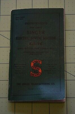 7461 Manual for antique Singer sewing Machine # 66-16, rotary hook home sewing m