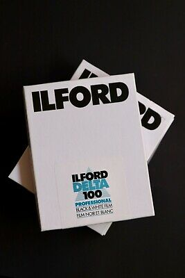 1 box of Ilford Delta 100 4x5 Sheet Film - B&W - (10 sheets) - EXPIRED SEP 201