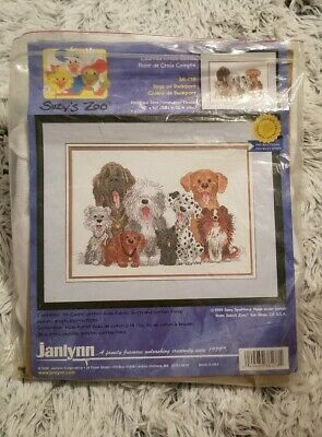 "Suzy/'s Zoo Dogs Of Duckport Counted Cross Stitch Kit 15/""X10/"" 14 C 049489381781"