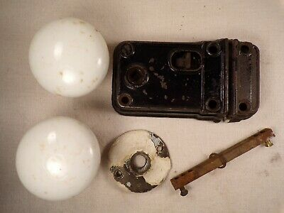 Antique Cast Iron Rim Lock Surface Mount Door Lock Set Privacy Bedroom Bathroom