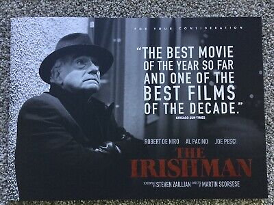 THE IRISHMAN Official Promo FYC Booklet Robert De Niro, Martin Scorsese, Oscars!