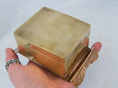 Antique-Arts&Crafts-Hand Made Copper/Brass Box After Newlyn/Keswick-circa 1900