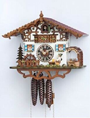 Cockoo Clock Swiss House Moving Beer Drinker And Wheel