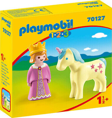 Playmobil 1.2.3 Princess with Unicorn 70127 (for Kids 18 months and up)