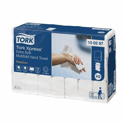 NEW! Tork Xpress Multifold Hand Towel H2 White 100 Sheets Pack of 21 100297