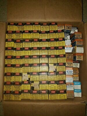 Lot Of Vintage Nos Multi Section Capacitors Cornell Dubilier Mallory Sprague