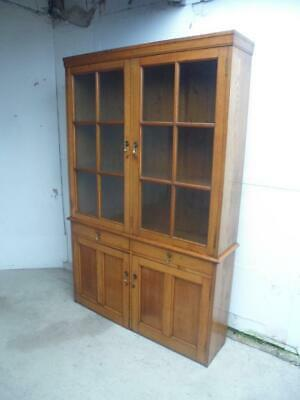 An Arts&Crafts Cotswold Golden Oak 1 Piece Bookcase/Dresser c1905