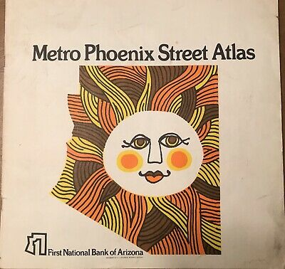 1972 Metro Phoenix Street Atlas - issued by First National Bank of Arizona