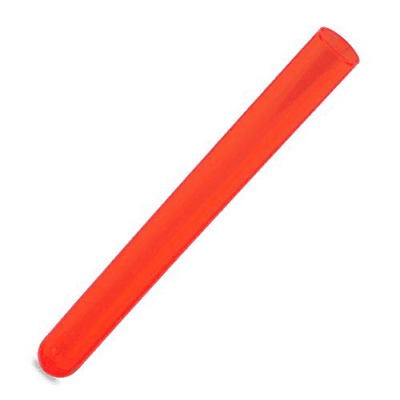 100pcs 16x150mm Plastic Test Tubes, Round Bottom, 20ml Vol, Neon Red Color