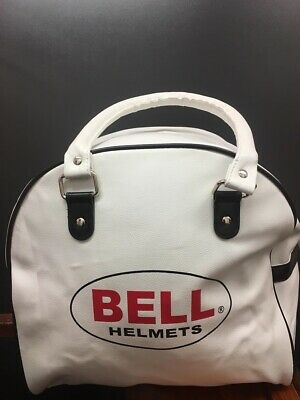 Bell Custom 500 / RT Deluxe Leather Motorcycle Helmet Bag Carrier Cover - White