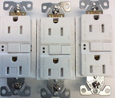 Legrand Radiant 15 Amp GFCI Outlet White 3 Count Decorator Durable Copper
