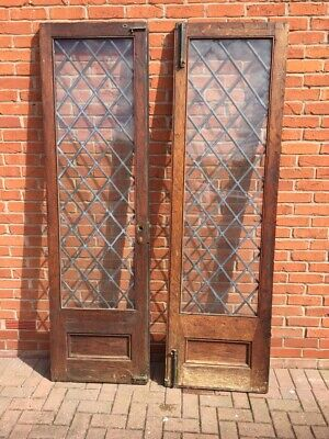 Arts And Crafts Leaded Oak French Windows