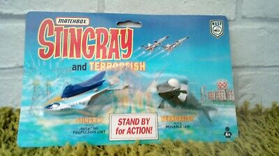 Vintage Gerry Anderson Matchbox Stingray And Terrorfish Model Set New Sealed