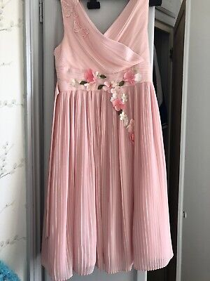 Girls Monsoon Pink Brocade  occasion party bridesmaid cruise dress age 11 Years