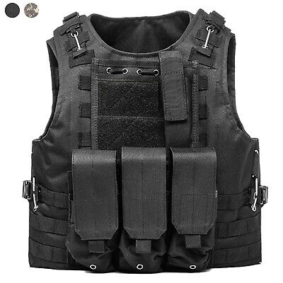 Tactical Vest Molle Combat Assault Vest with Mag Pouches for Airsoft Paintball