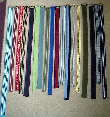 18x Boy's D-Ring Mixed Fabric Belts Canvas Age