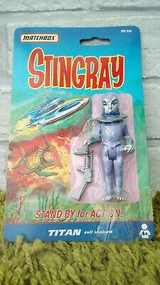 Vintage Gerry Anderson Matchbox Stingray Titan figure New Sealed