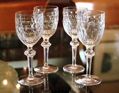 """Set of 4 Waterford Crystal Curraghmore Wine Goblet Glasses, 7"""" Tall"""
