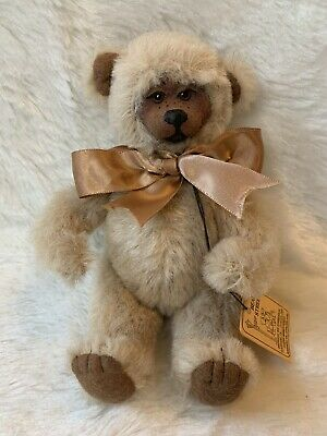 DEAN/'S ~ MOHAIR JOINTED TEDDY BEAR ~ MARBLE COLORS ~ MADE IN GREAT BRITAIN ~