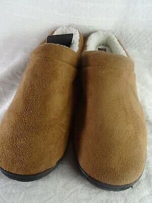 Gold Toe Mens House Slippers Memory Foam Indoor Outdoor Warm Loafers 13EEE