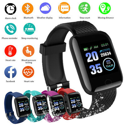 Fitness Smart Watch Band FIT-BIT Sport Activity Tracker For Kids Android iOS CA