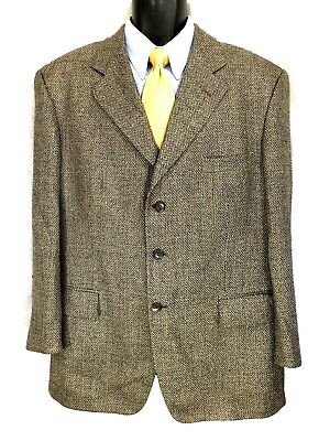 Vito Rufolo Men's Multi-color Nailshead Silk Wool Italian Sport Coat Jacket 42R