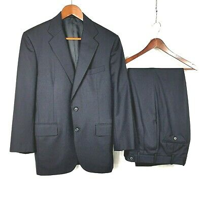 Tom James mens Hand Tailored navy blue wool suit 38S to 38R.....