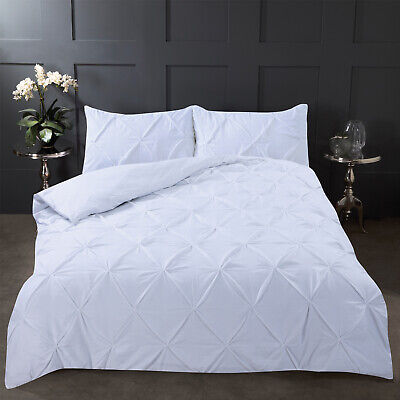White Pintuck Duvet Covers Diamond Pleat Pinched Pintuck Quilt Cover Set Bedding