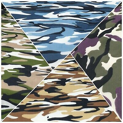 Army Military Camouflage  Polycotton Fabric 110cm Wide MS1352 Mtex