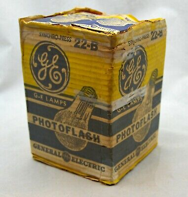 Vintage Photoflash Flashbulbs No. 22 GE qty of 6 New Old Stock