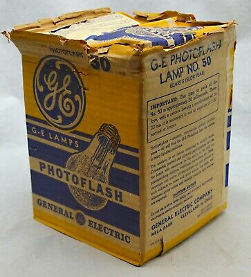 Vintage Photoflash Flashbulbs No.50 GE qty of 6 New Old Stock