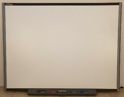 "Smart Board SB680 77"" Interactive Whiteboard with Pens Tray Eraser"