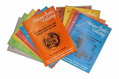 12 x Antique Bottle Collecting magazines 1980 Full Year