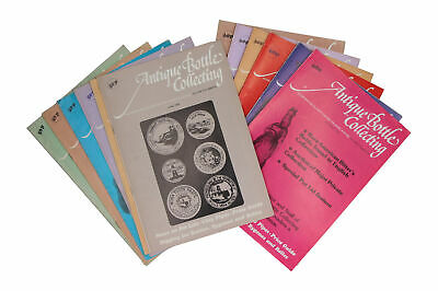 12 x Antique Bottle Collecting magazines 1979 Full Year
