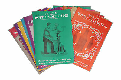 12 x Antique Bottle Collecting magazines 1977 Full Year